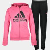 adidas Hooded Polyester Tracksuit, Trainingsanzug, Junior