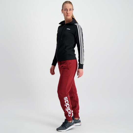 adidas Essential 3 Stripes, Kapuzenjacke, Damen Schwarz